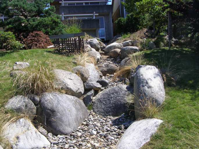 An impressive dry river bed in my neighbourhood.