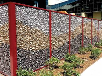 Gabion Fence Real Life Garden Solutions