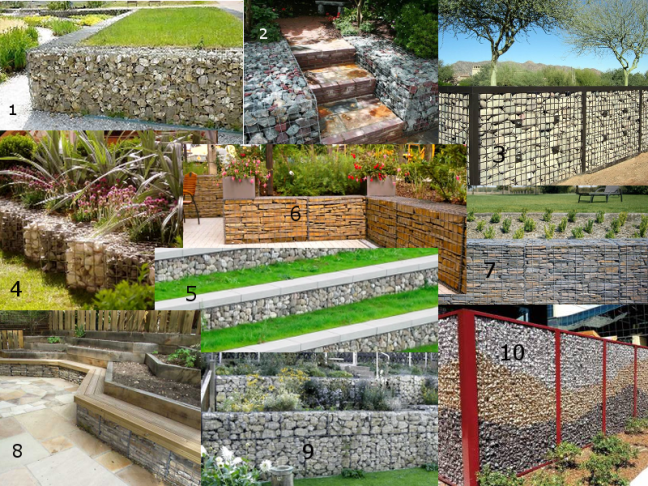 many different applications of gabions