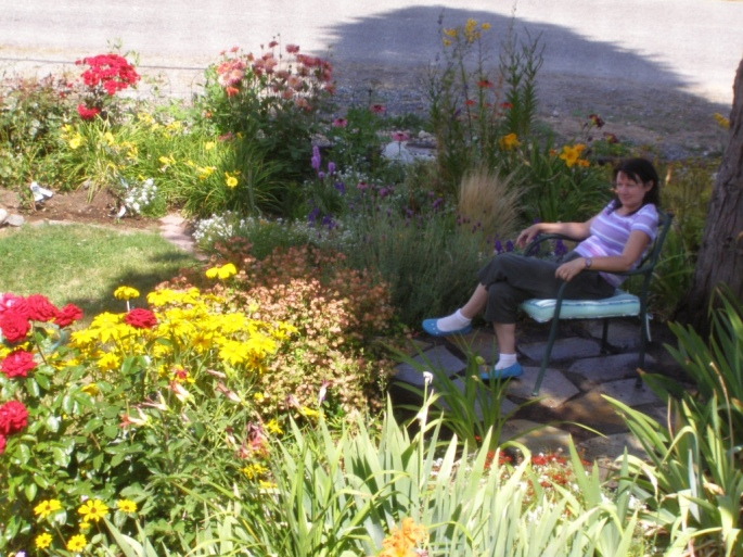 July 2010. New patio, thanks to my ever energetic sister!